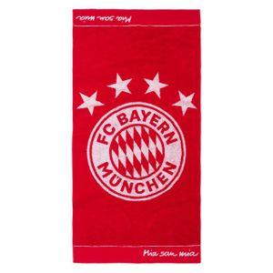 FC BAYERN MÜNCHEN Badetuch Emblem 180 x 90 cm FCB rot -