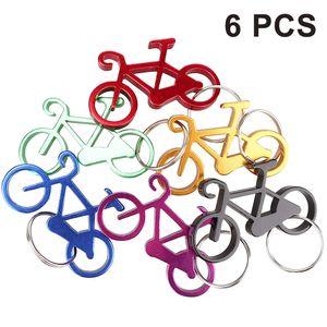 Fahrrad Schlüsselanhänger Flaschenöffner Fahrrad Tasche Bierflaschenöffner Flaschenöffner Flaschenöffner mit Schlüsselanhänger, 6 Stück
