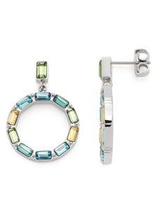 Leonardo 021372 Damen Ohrringe Grafica Edelstahl Silber blau