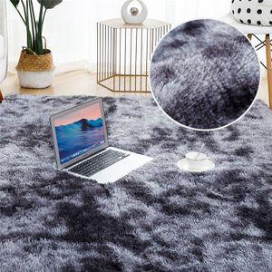 Hochflor Teppich 160x200 cm Langflor Shaggy Teppiche für Wohnzimmer flauschig Bettvorleger Schlafzimmer Outdoor Dunkelgrau