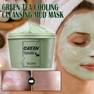 Green Mask Stick, Grüner Tee Gesichtsmaske, Mitesser Maske, Blackhead Remover Mask, Green Tea Cleansing Mask, Ölkontrolle Gesichtsmaske, Acne Cleansing Solid Mask, Purifying Clay Stick Mask (100 g)