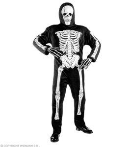 Kinderkostüm Skelett, Anzug +Maske Kinder Skelettkostüm Halloween XS -  116 cm
