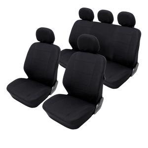 ECD Germany Sitzbez?ge Universal f?r Auto - aus Polyester - Schwarz - Sitzbezug Schonbezug Schonbez?ge Sitzschoner Sitzauflage