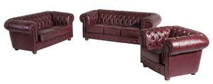 Max Winzer Bridgeport Sofa 3-Sitzer / Sofa 2-Sitzer / Sessel - Farbe: rot - Maße: 0 cm x 98 cm x 76 cm; 2883-901-9342023-F07