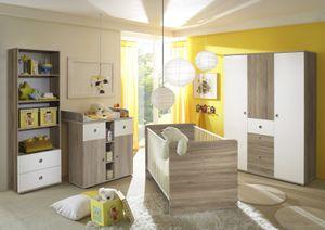 TiCAA Babyzimmer Milu II 4-teilig Sonoma-Weiß