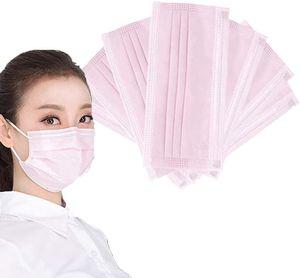 ZIZM® 200 Stück Pink Disposable Shield Einweg-Atemschutzbakterienschutz Mundschutz Gesichtsschutz Rosa 200 Stück