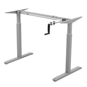 Tischgestell Schreibtisch Manuell Höhenverstellbar Bürotschreibtisch Gestell Homeoffice grau