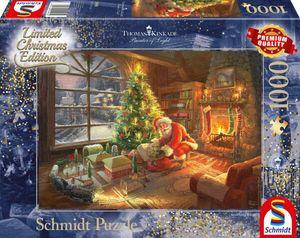 Schmidt Spiele Schmidt 59495 Thomas Kinkade Der Weihnachtsmann ist da