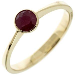 JOBO Damen Ring 333 Gold Gelbgold 1 Rubin rot Goldring Größe 54
