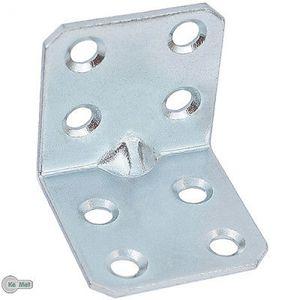 8 Winkel Winkelverbinder Lochwinkel mit Sicke 30 x 30 x 30 x 1,5 mm 8 Löcher