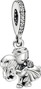 Pandora People Charm Anhänger 798896C01 Married Couple Silber 925 Klare Zirkonia