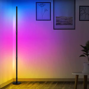 ATOKIT LED Stehlampe Dimmbar mit Fernbedienung, 2800LM 20W Stehleuchte Farbwechsel Lichtsaeule RGB Farbtemperaturen und Helligkeit Stufenlos Dimmbar für Wohnzimmer Schlafzimmer