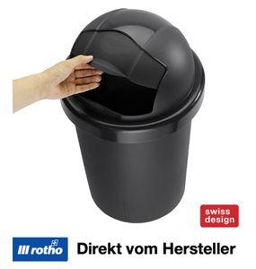 Rotho Roll Bob, 30 l, Schwarz, Manuell, 35,5 cm, 595 mm, 383 mm