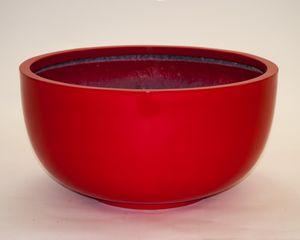 Pflanzschale Fiberglas rund D60xH30cm hochglanz rot