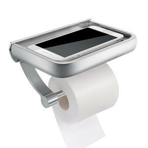 Toilettenpapierhalter ohne bohren mit Ablage Klopapierhalter WC Klorollenhalter