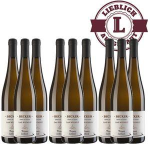 Weißwein Rheinhessen Kerner Weingut Becker Qualitätswein lieblich ( 9 x 0,75 l)