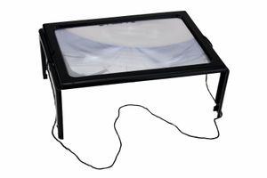 A4 Leselupe 29 x 20 x 11cm Groß Lupe mit LED Beleuchtung Lesehilfe Handlupe Vergrößerungglas Senioren
