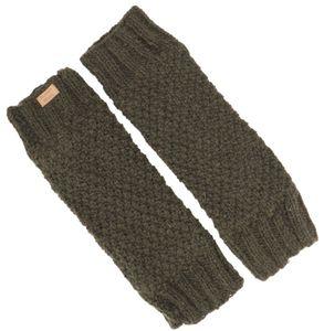 Wollstulpen mit Perlmuster, Strickstulpen aus Nepal, Beinstulpen - Olivgrün, Uni, Wolle, Socken & Beinstulpen