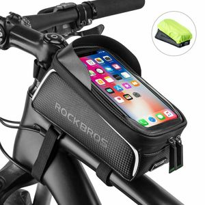 ROCKBROS Fahrrad Rahmentasche für 6,0'' Handy schwarz