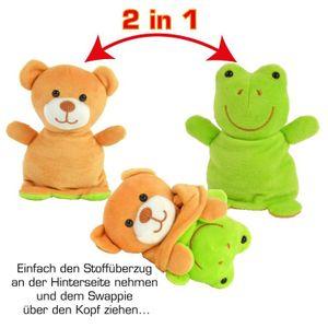 SWAPPIES Wende Plüschtier Frosch / Bär 15 cm
