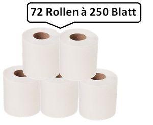 72 Qualität Toilettenpapier SET, Rolle je 30m, 3-lagig, weiß, umweltfreundlich, WEPA comfort-Qualität, 18.000 Blatt, 9,8