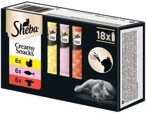 Sheba Creamy | Katzenfutter Katzensnacks Katzenleckerli Snacks Mix 18x12g
