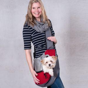 Kängurutasche f. kleine Hunde bis 10 kg Tragetasche Taschen Reisetasche