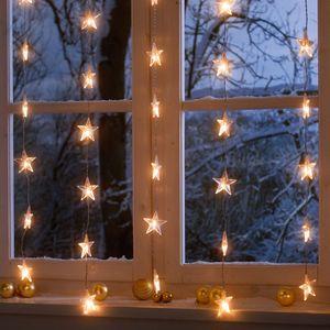 LED Lichterkette Lichterdeko Sternenvorhang XMAS Innenbeleuchtung Dekolicht
