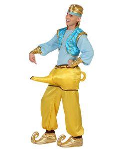 Herren Kostüm Dschinn Aladin Geist aus der Wunderlampe, Größe:XL
