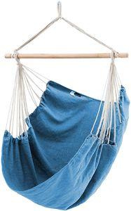 SONGMICS Hängesessel, XXL Affenschaukel, Hängestuhl, 130 x 185 cm, bis 200 kg belastbar, Indoor und Outdoor, blau GDC186BU