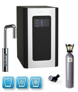 Einbau-Tafelwasseranlage BLUE DIAMOND (Option CO2 Eigentumsflasche: 6kg CO2 Flasche / Armatur: U-Auslauf)