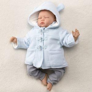 Jungen Baby Winter Jacke Mantel Duffle Coat blau 62 (0-3 Monate)