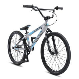 SE Bikes Floval Flyer 24 Zoll BMX Rad Oldschool Freestyle BMX Bike Fahrrad 24' Street, Farbe:silber, Rahmengröße:27 cm