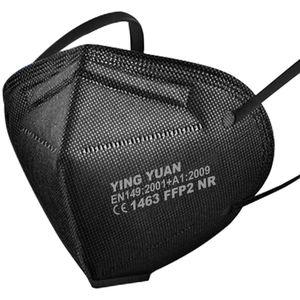 20x FFP2 Schutz Maske Mundschutz Atemschutzmaske  CE1463 EN149  Schwarz