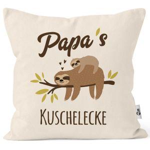 Kissen-Bezug eigener Name Mama´s / Papa´s / Oma´s / Opas´s / Kuschelecke Faultier personalisierbare MoonWorks® Papa natur unisize