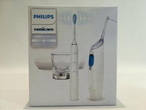 Philips HX8494/01 AirFloss Ultra und DiamondClean 9000 Kombi-Pack, Farbe:Weiß