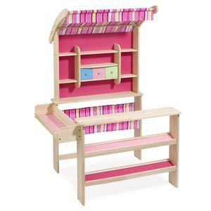 howa Kaufladen 'Emma' mit Markise natur/pink 4746