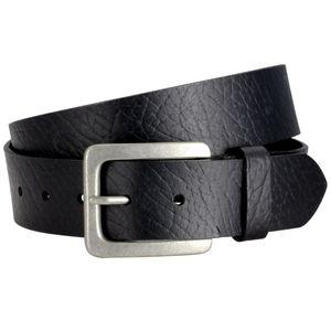 Lindenmann Gürtel Vollrind Ledergürtel, kürzbar, 4cm breit, schwarz Schwarz 105