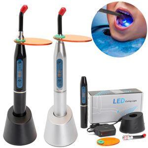 1500MW 5W Dental Curing Light Zahnarzt Polymerisations lampe Whitening Lamp Zahnärztliche EU Stecker Silber