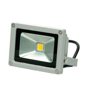 ECD Germany LED Flutlicht Strahler Außen 10W - 2800K WarmWeiß - Wasserdicht IP65 - Superhell -  Outdoor Sicherheitsleuchte - Fluter Außenstrahler Scheinwerfür Flutlichtstrahler Baustrahler
