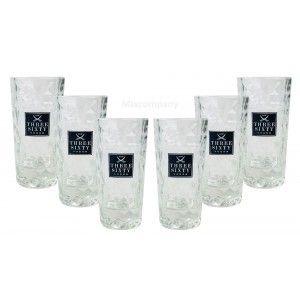Three Sixty Vodka Wodka Shotgläser Gläser Glas Set - 6 Stück 2 und 4cl geeicht