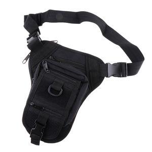 1x Taktische Hüfttaschen Molle Tasche Gürteltasche Beintasche Multifunktionstasche Farbe Schwarz