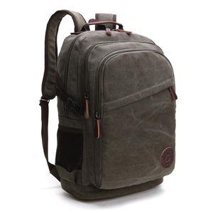 Vintage Canvas Rucksack Laptoprucksack Retro Schulrucksack Backpack Daypack für Uni, Laptop, Wandern, Outdoor Sport, Freizeit, Einkaufen mit der großen Kapazität (Grün)