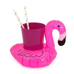 Oblique Unique 5x Schwimmender Flamingo Getränkehalter aufblasbar Pool Badespielzeug