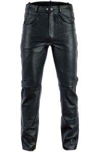 BULLDT Lederhose lederjeans bikerjeans Reitlederhose 5 Pocket jeans hose aus Anilinleder Naturleder, Größe:56/2XL