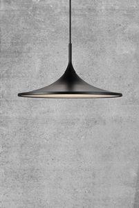 Nordlux Flache LED Pendelleuchte Skip35 schwarz rund