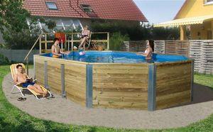 Massivholz Schwimmbad Weka 594 Gr. 2 Sparset 850x376cm