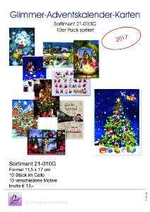 Dt-Karten Adventkalender 10er 21SÜ010G von SÜ-VERLAG APOLLO