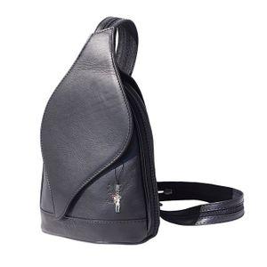 Florence echter Leder Rucksack Tasche Damen Schultertasche schwarz OTF602F