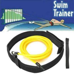 Schwimmtrainer Gürtel Schwimmwiderstand Tether Pool Schwimmtrainingshilfegurt Größe 6mm*9mm*3m